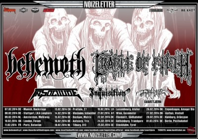 behemoth-cradle of filth tour 2014 - poster artwork small